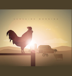 good morning rooster vector image