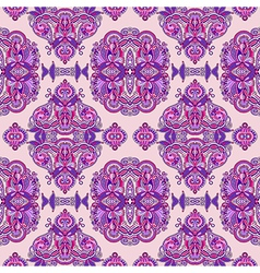 ornate floral seamless wallpaper vector image vector image