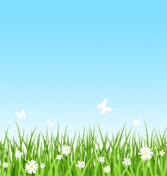 seamless grassy field vector image