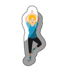 woman athlete dancing avatar character vector image