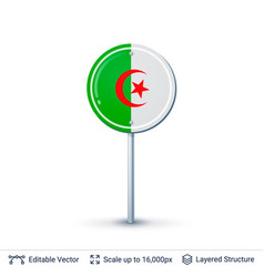 algeria flag isolated on white vector image vector image