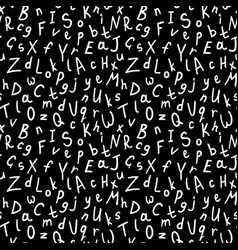 alphabetical seamless pattern vector image