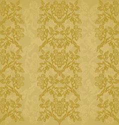 Background floral vertical stripe gold vintage vector image