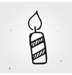 candle isolated hand drawn vector image vector image