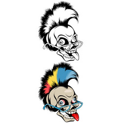 skull with a mohawk vector image