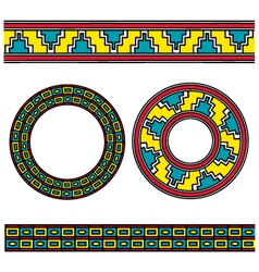 assyrian ornament vector image
