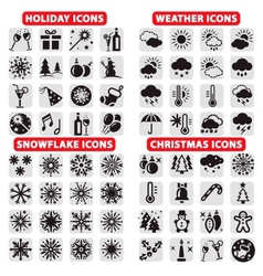 big set of icons vector image vector image