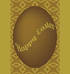 Dark gold egg easter card on shuriken pattern vector image vector image