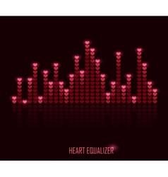Heart equalizer vector image