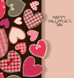 Love greeting card with heart patchworks vector image vector image