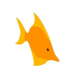 Moorish idol fish icon isometric 3d style vector image