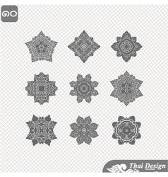 set of Line thai art design vector image vector image