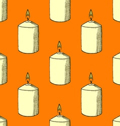 Sketch candle vector image vector image