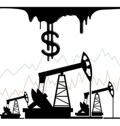 Graph of oil vector image