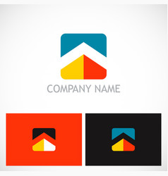 square home roof company logo vector image vector image