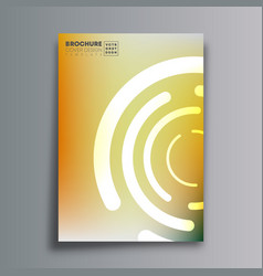 abstract design poster with circular shapes and vector image