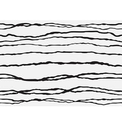 Abstract striped seamless background white black vector