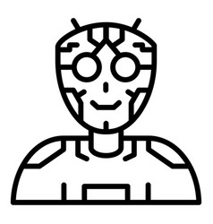Ai humanoid intellect icon outline style vector