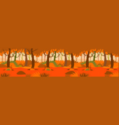 an autumn forest background vector image