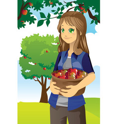 Apple farmer vector
