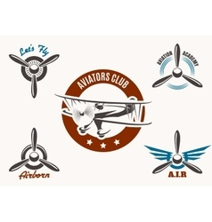 Aviation Emblem Set vector image