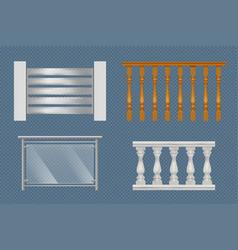 balcony handrails building stairway constructions vector image