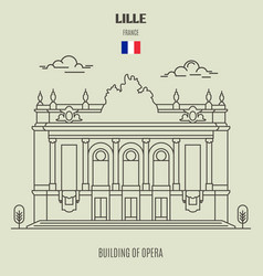 Building of opera in lille vector