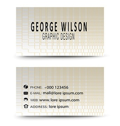 Business card gold vector