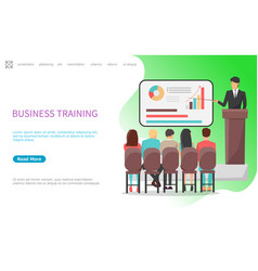business training seminar conference in office vector image