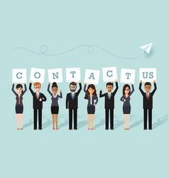 businessman and businesswoman team vector image