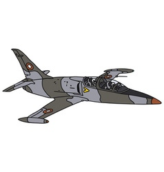Camouflage aircraft vector