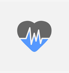 cardiogram flat icon isolated on white background vector image