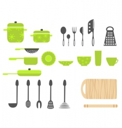 cartoon kitchen vector image