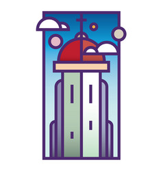 Church tower vector