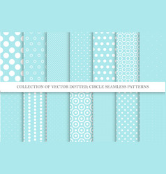 collection cute polka dot seamless vector image