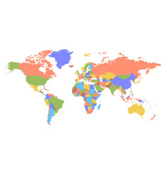 color world map political map vector image