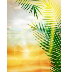 Creative summer graphic design vector image