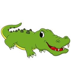 cute crocodile cartoon vector image