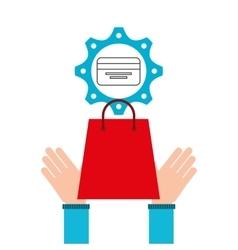 E-commerce business credit card money design icon vector