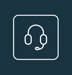 earphone outline symbol premium quality isolated vector image