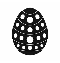 Egg for easter icon black simple style vector image vector image