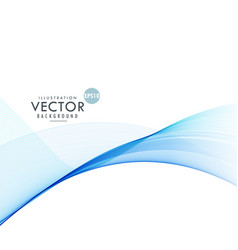 elegant blue wave design background vector image