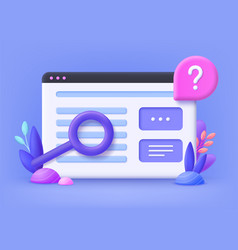 Faq frequently asked question concept online vector