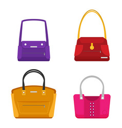 Fashion bags set isolated flat design vector