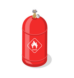 Flammable gas tank with liquefied compressed vector