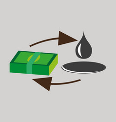 Flat icon on theme arabic business sale of oil vector