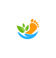Foot care logo icon design vector