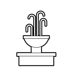 Fountain with water splash element vector