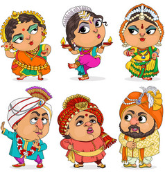funny indians vector image