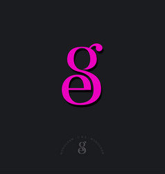 g e monogram combined letters beautiful classic vector image
